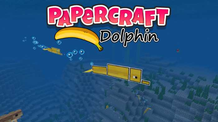 Resource Pack Papercraft Banana Dolphin 1.9